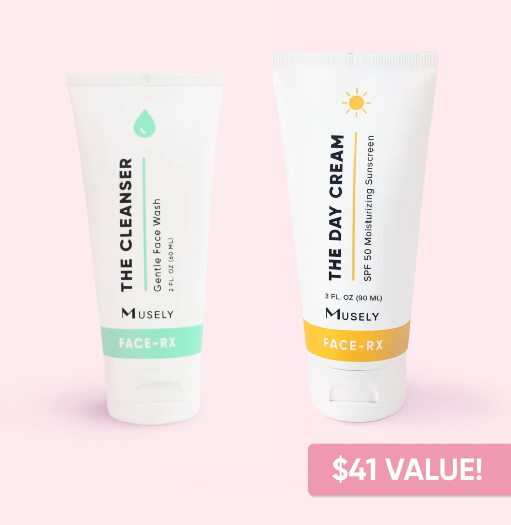 Musely The Cleanser & Day Cream Bundle