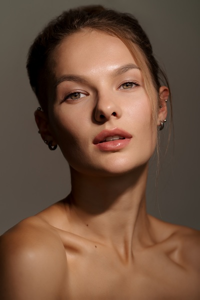 Stunning young girl with clear skin