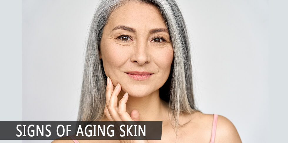 Woman aging gracefully