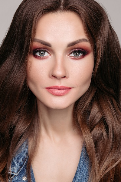 Woman with fair makeup and fair colored skin
