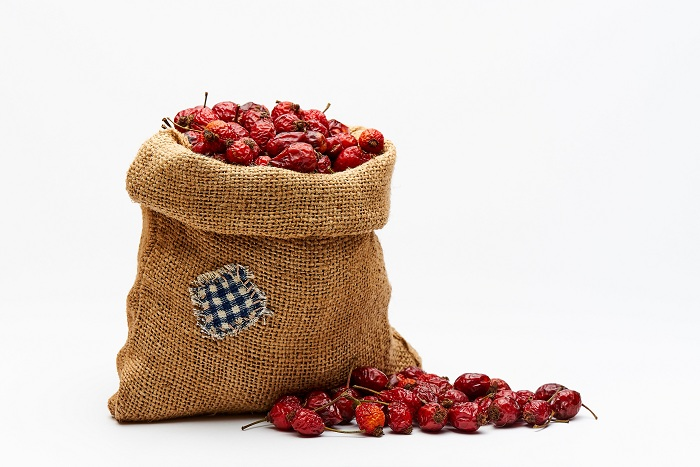 Bag with rose hips