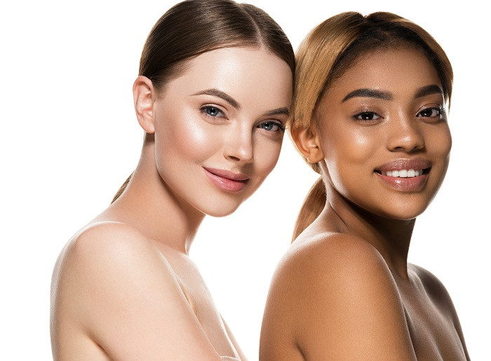 Different skin types from different races