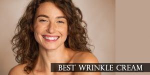 middle aged woman smiling with good skin