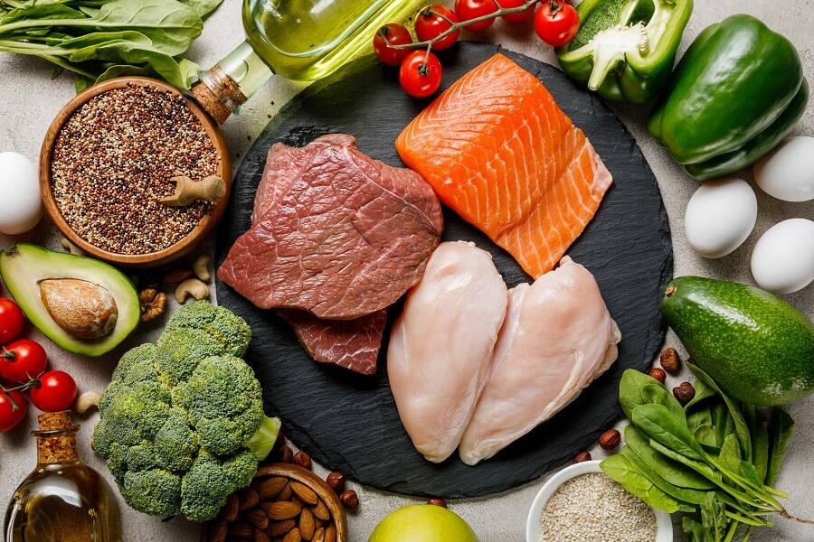 meat and fish diet