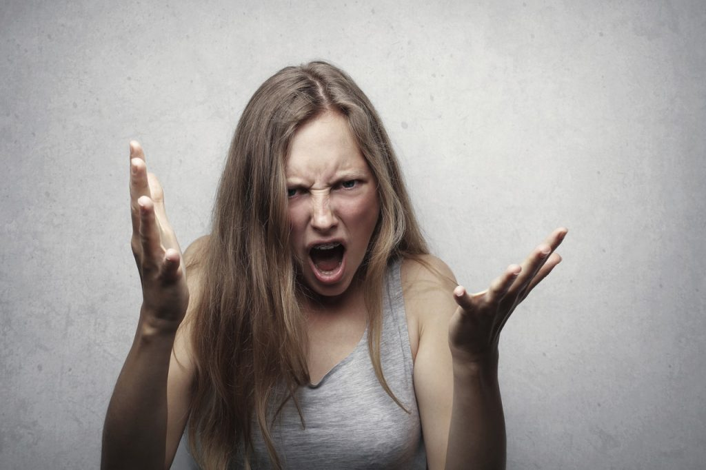 woman totally annoyed